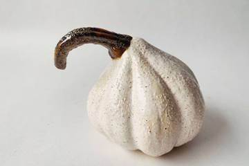 Keramikk gresskar, hvit